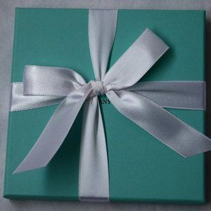 Tiffany & Co. Party Supplies - Tiffany & Co. Blue Paper Gift Box + Bag + Card Set
